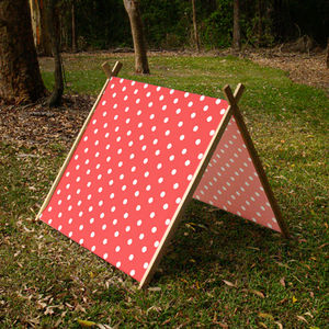 Polka Dot Collapsible Play Tent - games