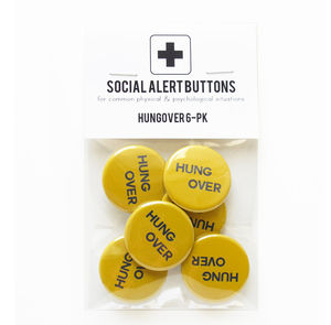 Pack Of Hungover Badges