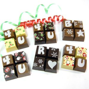 Christmas Personalised Chocolate Squares
