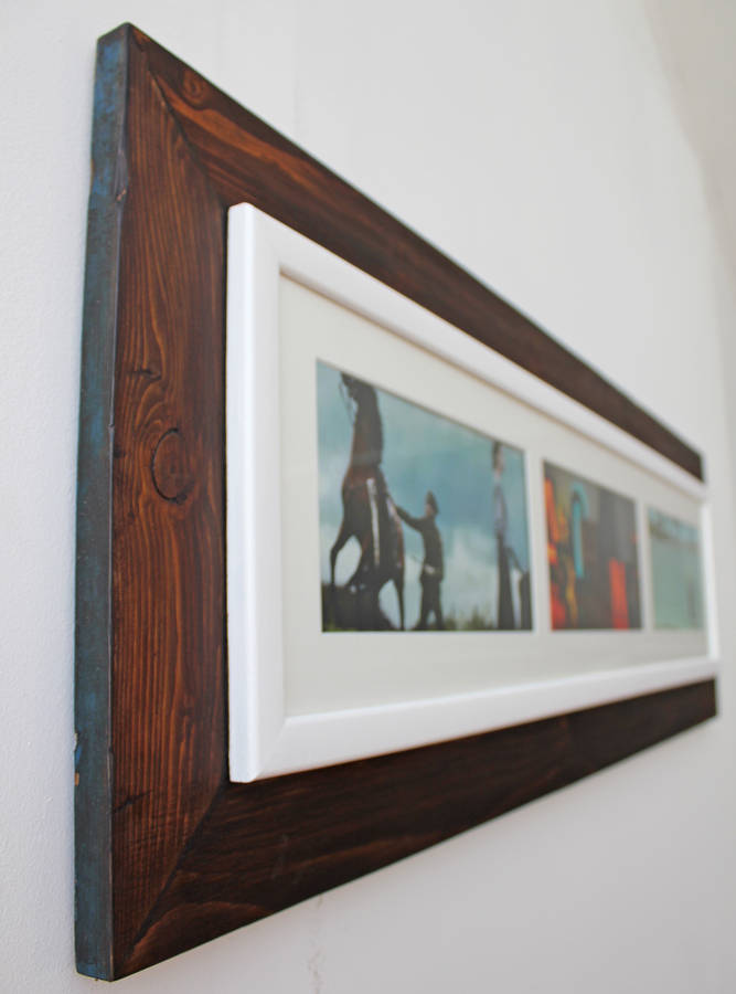 Reclaimed Wooden Landscape Aperture Photo Frame By M 246 A