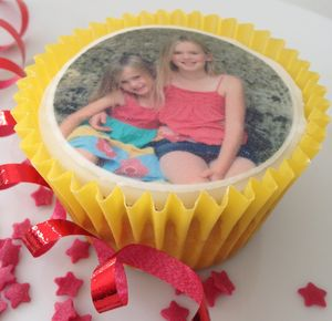 Personalised Photo Cupcake Toppers - cake decoration