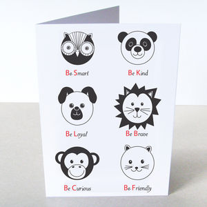 'Animal Personality' Card