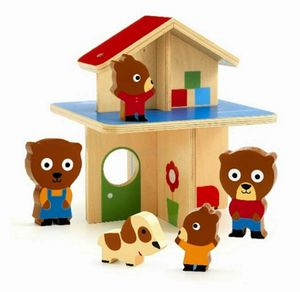 Wooden Bear Mini Home - toys & games