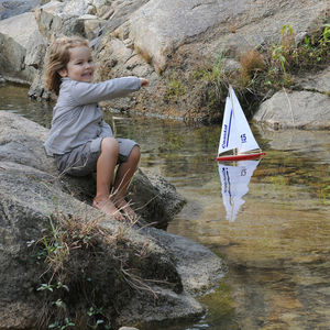 Toy Sailing Yacht With Stand - outdoor toys & games