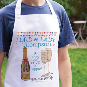Personalised Lord And Lady Apron