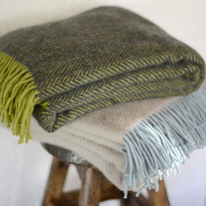 Wool Throw - blankets & throws