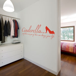 'Proof That A New Pair Of Shoes…' Quote Wall Sticker