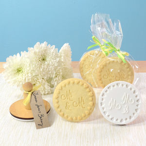 Mr And Mr Cookie Stamp - wedding favours