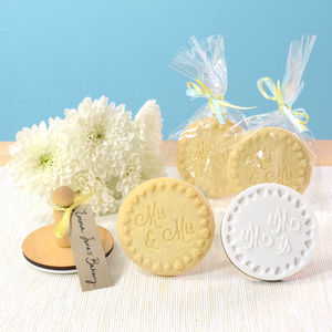 Mrs And Mrs Cookie Stamp - wedding favours