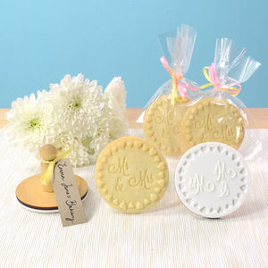 Mr And Mrs Cookie Stamp - wedding favours