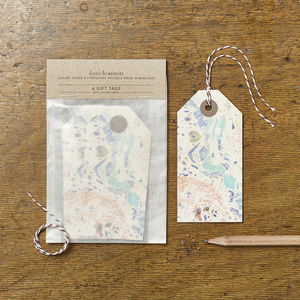 Marbled 11 Gift Tags