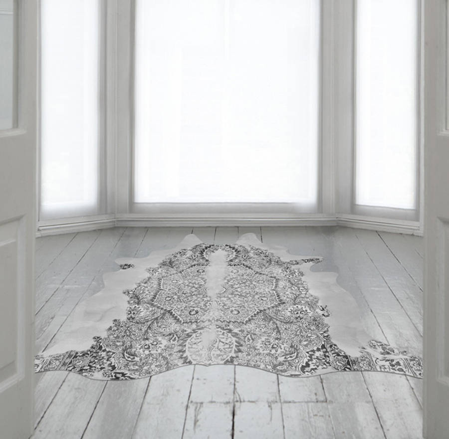 Persian Cowhide Rug By The Form Emporium