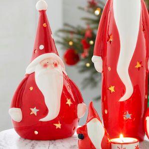 Ceramic Santa Tea Light Holder - lighting