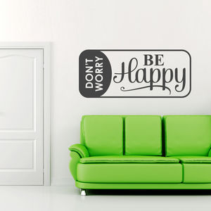 'Don't Worry Be Happy' Wall Sticker