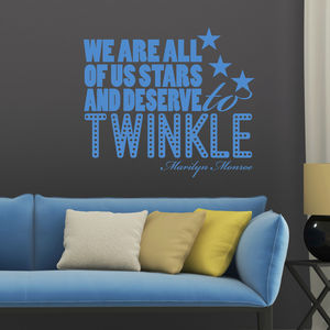 'We Are All Of Us Stars…' Quote Wall Sticker