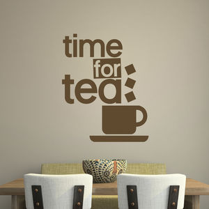 'Time For Tea' Wall Sticker