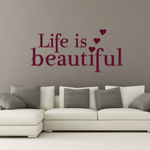 'Life Is…' Quote Wall Sticker