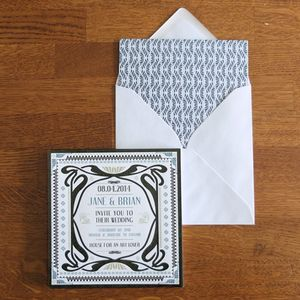 Mackintosh Wedding Invitation - invitations
