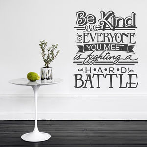 'Be Kind For Everyone…' Wall Sticker