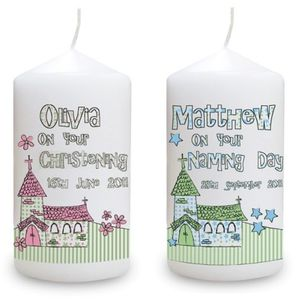 Personalised Church Candle - lighting
