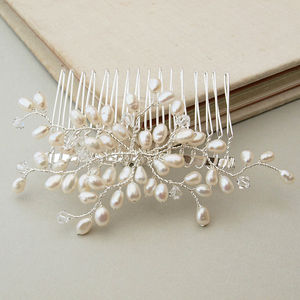 Bud Pearl Bridal Hair Comb - women's accessories