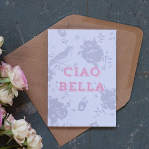'Ciao Bella' Notecard - cards