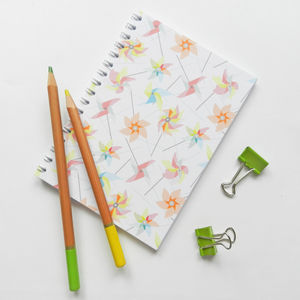 Spiral Bound Notebook In Windmills