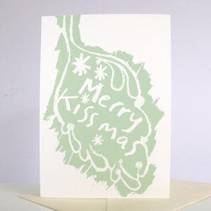 'Merry Kissmas' Pack Of Six Cards