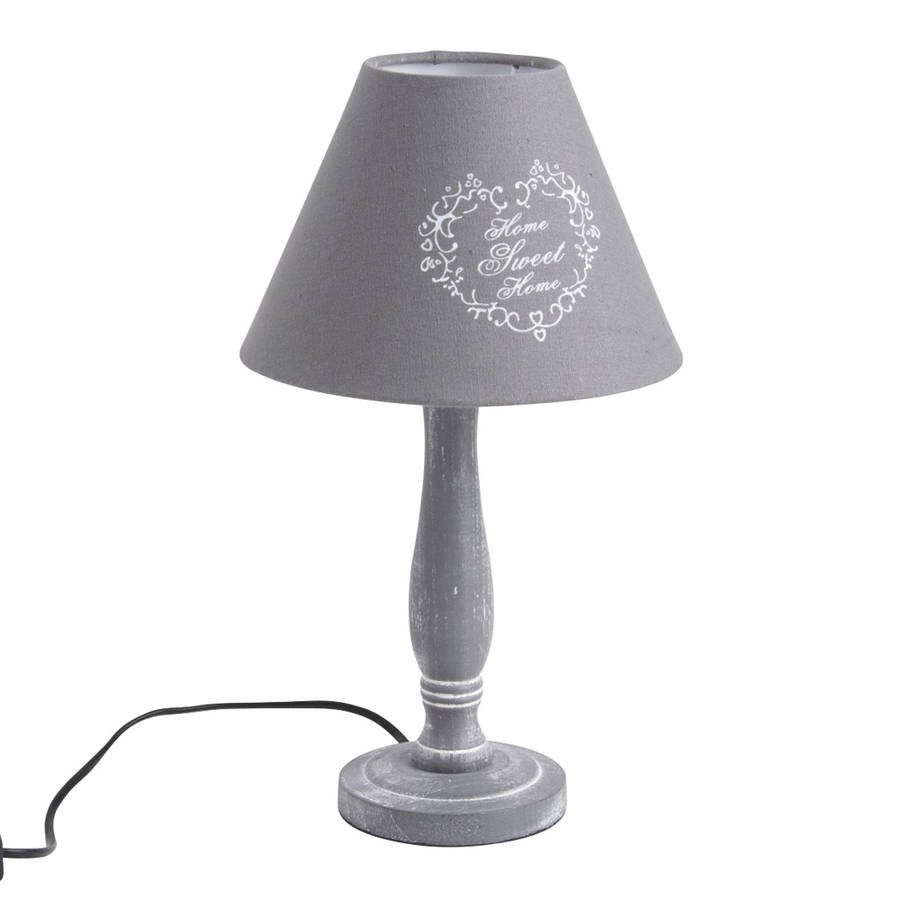 Home Sweet Home French Grey Table Lamp By Dibor