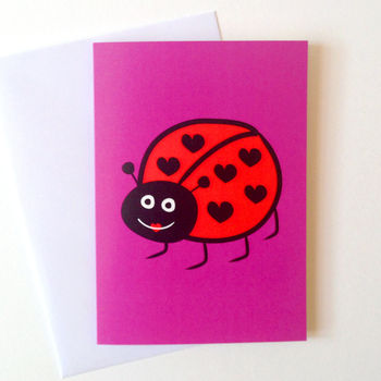Cute Ladybird Birthday Card