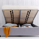 Beatrice Upholstered Pannelled Headboard Storage Bed