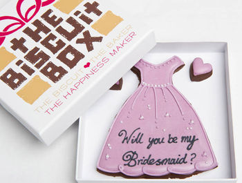'Be My Bridesmaid' Biscuits Gift
