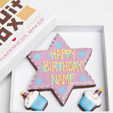 Personalised Birthday Star Biscuits Gift - chocolates & confectionery