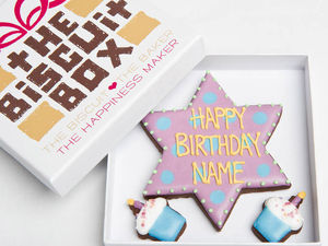 Personalised Birthday Star Biscuits Gift - biscuits and cookies