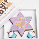 Personalised Birthday Star Biscuits Gift