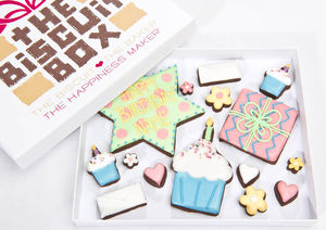 Personalised Birthday Biscuit Box - cakes & sweet treats