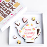 Personalised Teapot Biscuits Gift - chocolates & confectionery