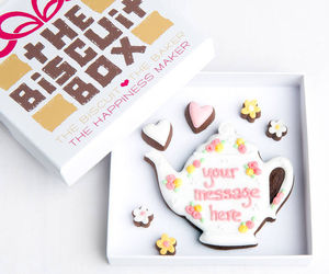 Personalised Teapot Biscuits Gift - gifts for mothers
