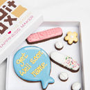 Personalised 'Get Well' Balloon Biscuits Gift
