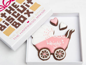 Personalised Baby Girl Biscuits Gift