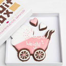 Personalised Baby Girl Pram Biscuits Gift