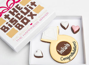 Personalised Engagement Biscuits Gift