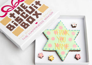 Personalised 'Thank You' Star Biscuits Gift - thank you gifts