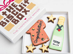 Personalised 'Congrats' Cork Biscuits Gift - graduation gifts