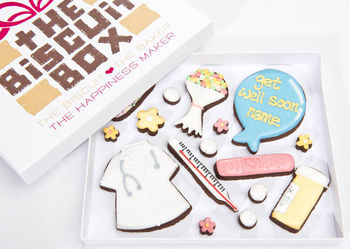 Personalised 'Get Well Soon' Biscuit Box