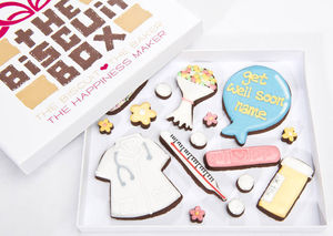 Personalised 'Get Well Soon' Biscuit Box - cakes & sweet treats