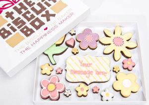 Personalised Fancy Flower Biscuit Box