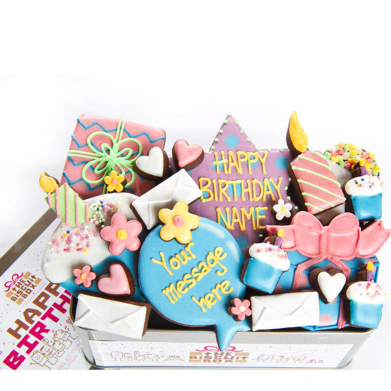 Personalised Birthday Biscuit Tin