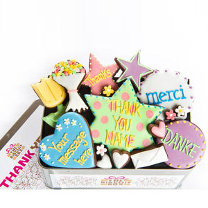 Personalised 'Thank You' Biscuit Tin - thank you gifts