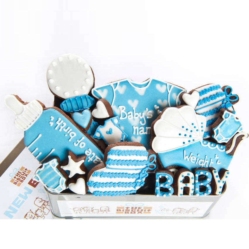 Personalised Baby Boy Biscuit Tin
